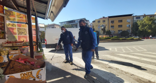 dezinfekcija na ulici veles